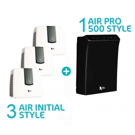 Pack famille avec 3 purificateurs Air Initial Style blanc