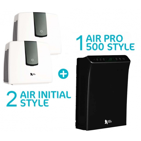 Pack compact avec purificateurs Air Initial style blanc