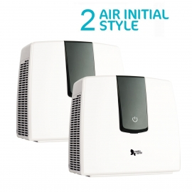 Pack Duo - 2 purificateurs Air Initial Style Blanc