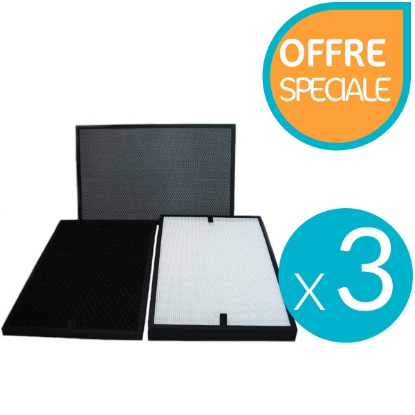 Lot de 3 blocs de filtres pour le purificateur Lux Air