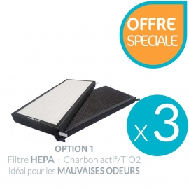 Lot de 3 filtres Air Pro 500 HEPA