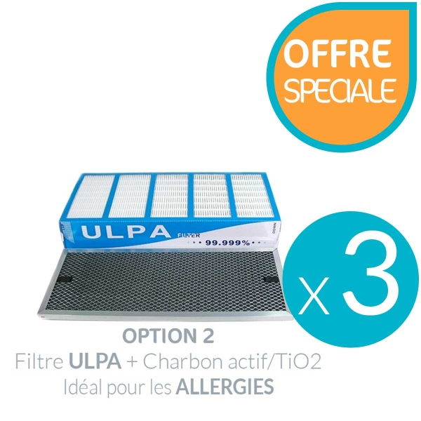Lot de 3 filtres pour purificateur Air Pro 500 ULPA
