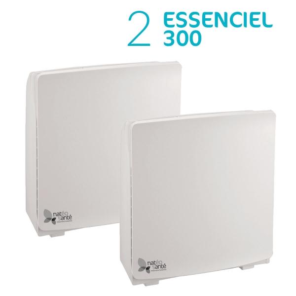 Pack Duo Essenciel - 2 purificateurs d'air Essenciel 300