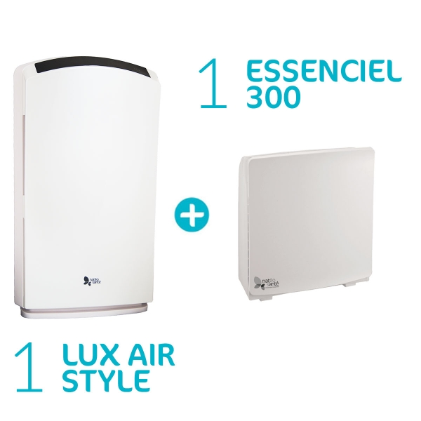 Pack Lux Essenciel - Purificateurs Essenciel 300 + Lux Air Style
