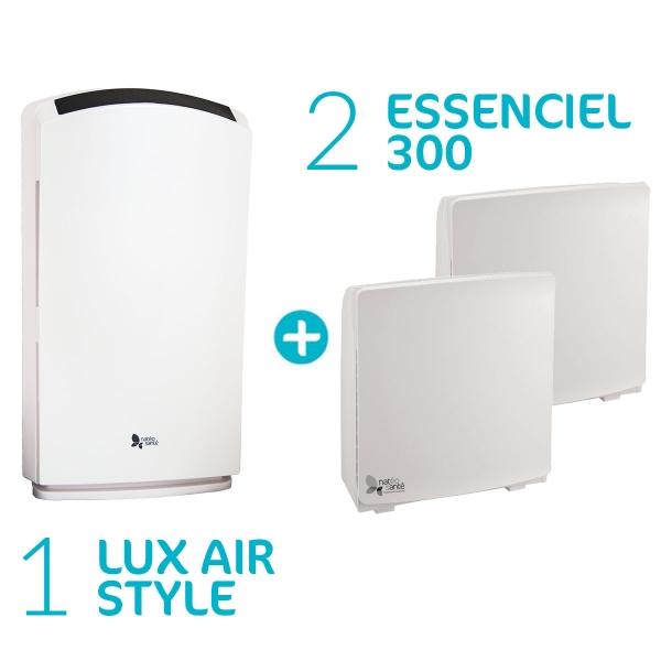 Pack Lux Essenciel - 2 Purificateurs Essenciel 300 + Lux Air Style