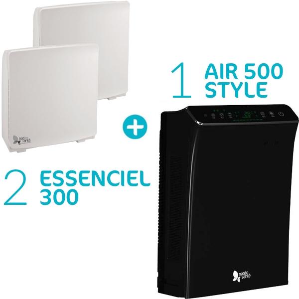 Pack Air Essenciel - 2 purificateurs d'air Essenciel 300 + Air 500 style