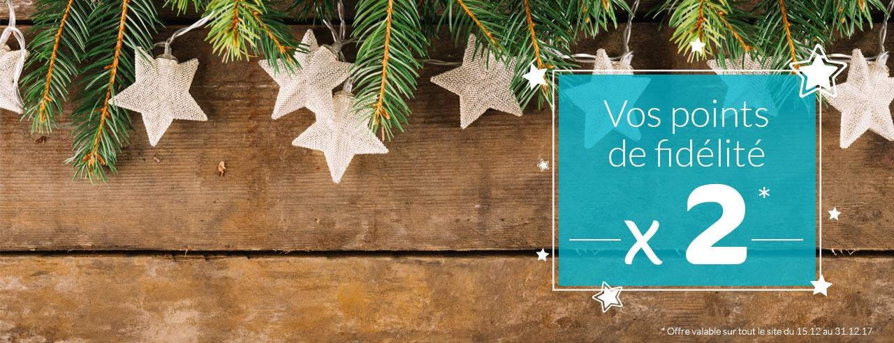 Offre de Noël : Points de fidélité doublés